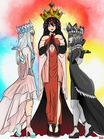 The three queens of the diamonds